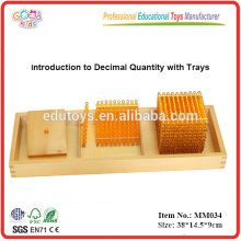 montessori material toys Introduction to Decimal Quantity with Trays