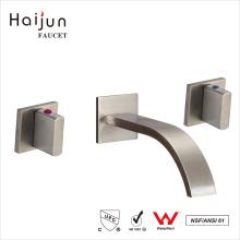Haijun barato 0.1 ~ 1.6MPa Single Handle Wall Mount torneiras de lavatório de banheiro