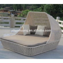 comfortable customized rattan furniture patio wicker sunbed