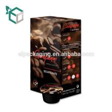 УФ горячая Штемпелюя Коробка кофеего Упаковывая coffeeCardboard с Лакировать рукавом