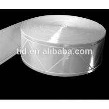 Fita reflexiva do PVC de Prismtic, fita reflexiva da cor branca para a roupa