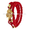 Venta al por mayor de moda de anclaje de moda náutica pulsera de joyería suerte pura pulseras de cuerda blanca para las mujeres