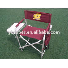 lightweight aluminium folding director chair with side table and pocket