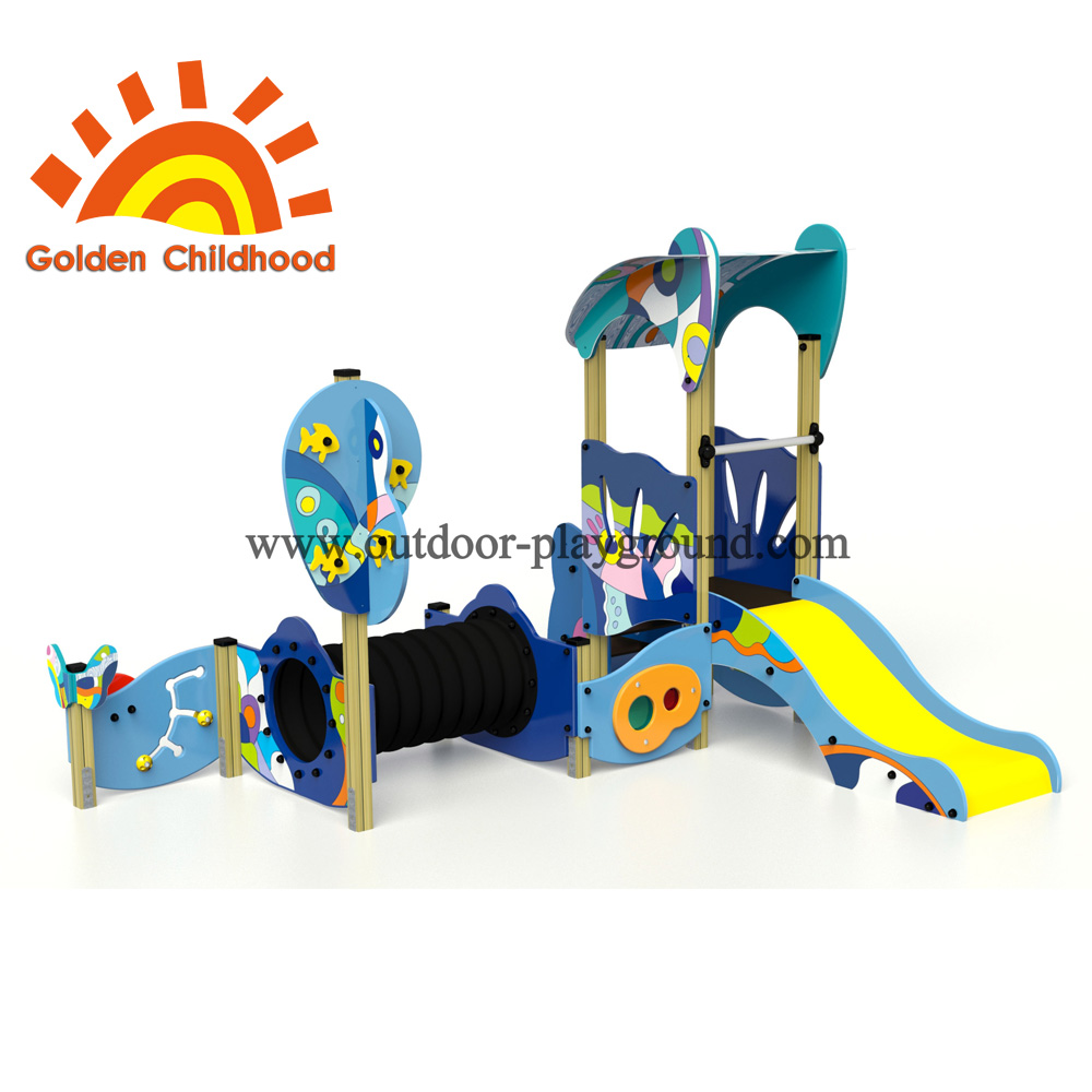 Colourful Bridge Tube Outdoor Playground Facility For Children