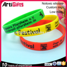 New style fashion silicone festival bracelets for promotion