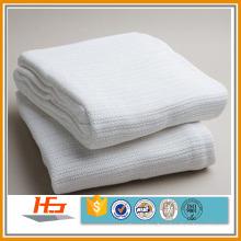 cotton thermal cellular white weave leno hospital blanket