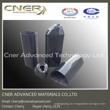 Silenciador de fibra de carbono / tubo de escape de alta resistencia, piezas de fibra de carbono