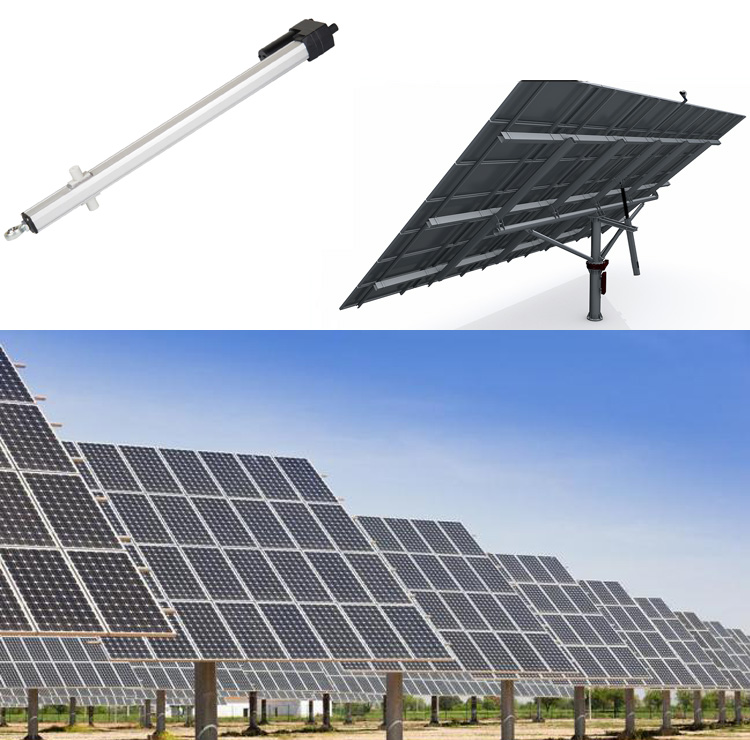 Solar Tracker Linear Electric Actuator UL6 application