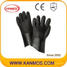 Resistente al ácido PVC sumergido guantes de trabajo de seguridad industrial (51208SP)