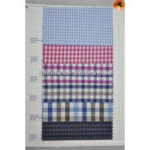 tecido de poliéster de algodão xadrez manta para camisas