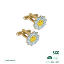 Nettes Geschenk angepasst Blume Form Manschettenknopf