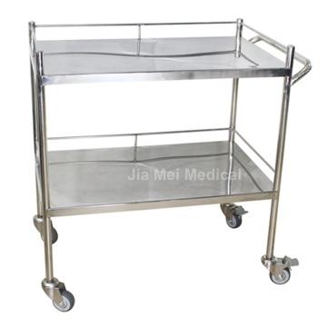 Медицинская тележка для больничных инструментов с 2 слоями