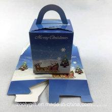 Die-Cut plegable de papel de cartón de regalo de Navidad caja de embalaje