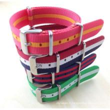 YXL-782 2016 nouveau luxe Fashion colorés interchangeables poignet Nylon montre bande bande en acier inoxydable bracelet 18mm 20mm OTAN Watch