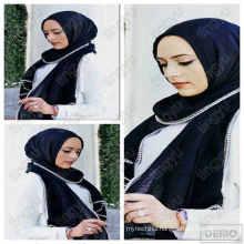 Fashion coming soon hijab scarf dubai cotton pearl & chain muslim hijab