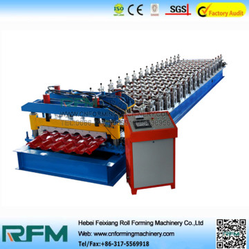 Colored Steel Glazed Roofing Tiles Machine