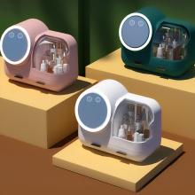Ventilator und 360° drehbarer, beleuchteter Make-up-Spiegel