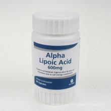 Cápsulas de ácido alfa lipóico antioxidante 600mg