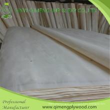 Folheado de álamo branqueado de primeiro grau 0,5 mm de Linyi Qimeng