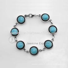 Bracelet de mode en argent de pierres semi-précieux pour mariage disponible en gros