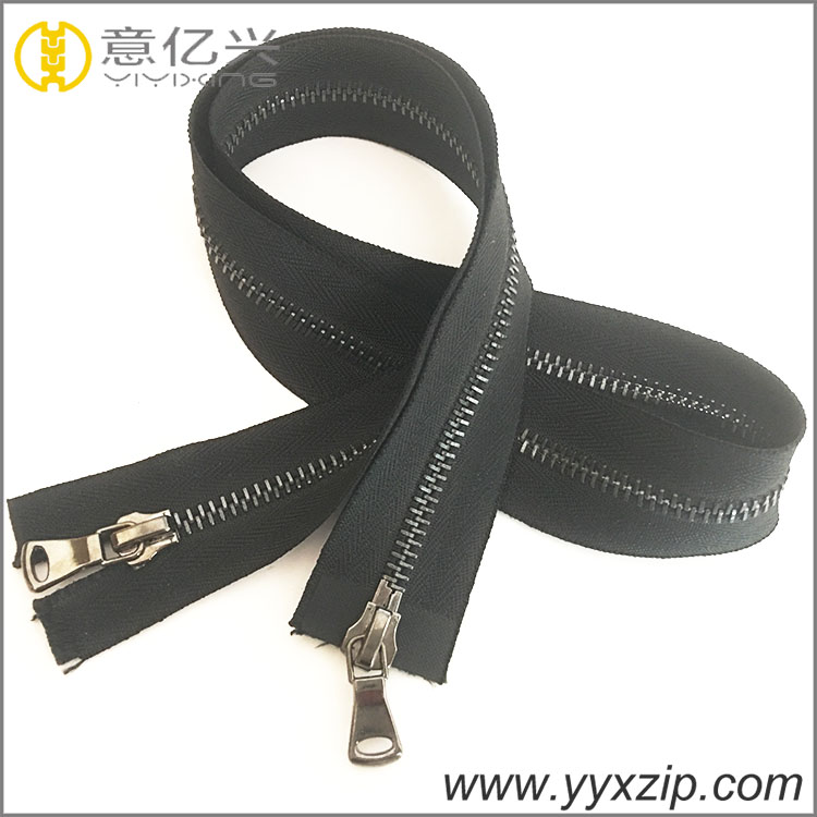 fashion leather slider zipper