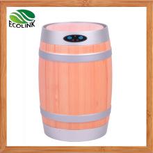 Intelligent Oak Barrel Shaped Automatic Sensor Garbage Can