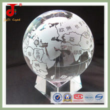 Clear Sandblast Map On The Ball With Base (jd-cb-103)