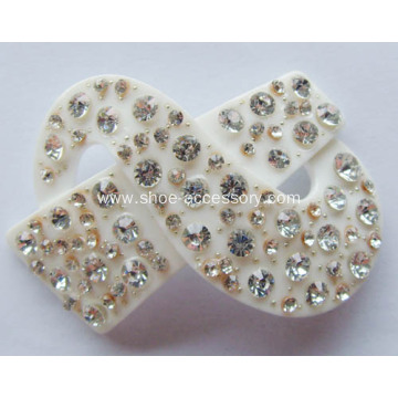 Unique Rhinestone Shoe Clips, Acrylic Rhinestone Buckle
