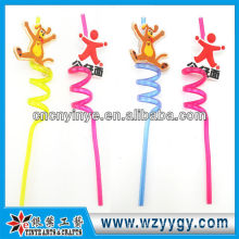 funny pvc drinking straw for stopper decoration