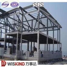 Estructura de marco de acero ligero prefabricado