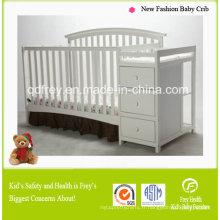 Lit de bébé / lit en bois massif de pin de conception de mode