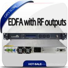 CATV DWDM EDFA Amplificador de fibra con entrada de RF