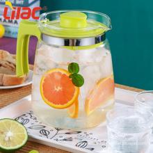 Lilas Nouveau jus d'été/pot en verre transparent fleur d'eau