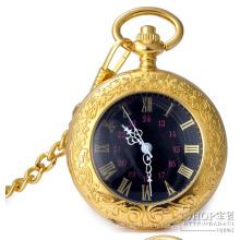 Montre de poche en or avec mouvement à quartz de la conception du client