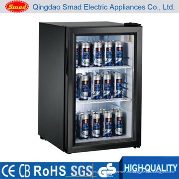 50L mini refrigerador de la puerta de cristal / refrigerador de la barra / mini refrigerador hecho en China