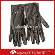 80%polyester+20%polyamide black magic microfiber glove with logo printed for jewelry and watches