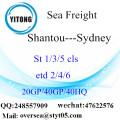 Shantou Port Sea Freight Shipping à Sydney