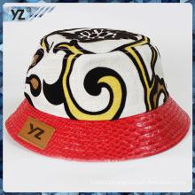modern degsin two material printed bucket hats