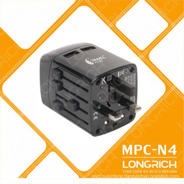 110-240v travel plug adapter OEM Customize logo universal converter adapter for phone charger
