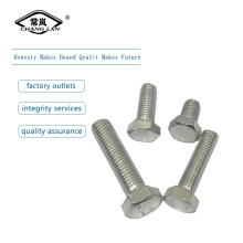 zinc plated hex bolts nut and  washer