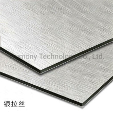 3mm 4mm Brushed Silver Wiredrawing ACP Aluminum Composite Panel