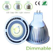 Dimmbale 5W blanco MR16 COB LED de luz