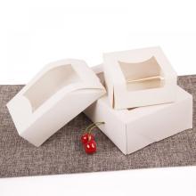 Boîte à lunch kraft à dessert jetable pour emballage de restauration rapide à emporter boîte à aliments en papier
