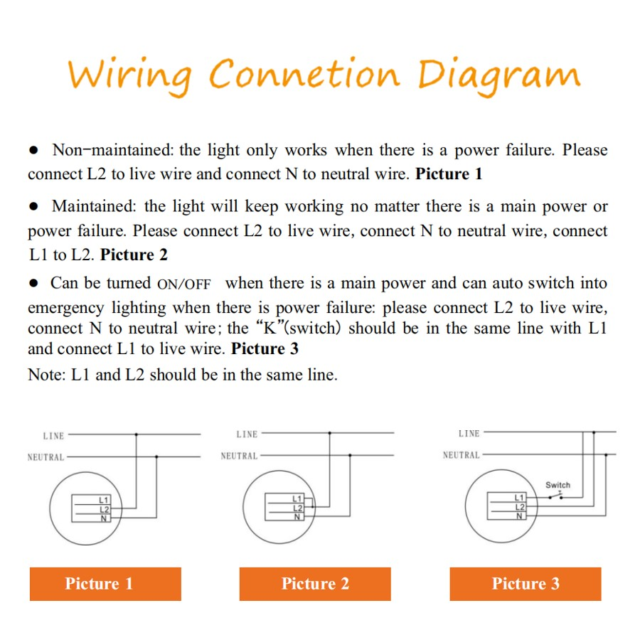 Emergency light wiring diagram