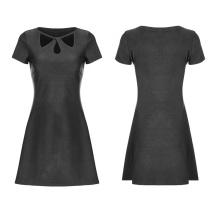 OPQ-340 XS-4XL hollow A pendulum knitted dress plus size dresses black dress for women
