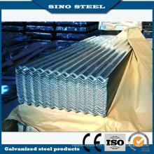 0,6 mm d'épaisseur galvanisé tôle d'acier ondulée