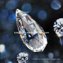 Peça de cristal clara do candelabro & grânulo