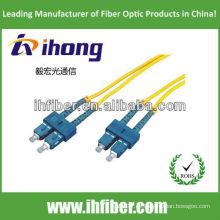 SC Singlemode dúplex fibra óptica Cable de remiendo fabricante con alta calidad