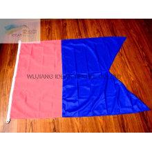 100% poliester doble poligonal color banderas