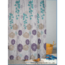 Diseño de flores Tela de baño Cortina de ducha